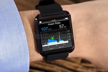 osoba reka noszenia smart watch