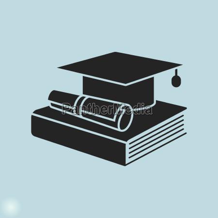ikona edukacji koncowka dyplomuksiazki i dyplomu