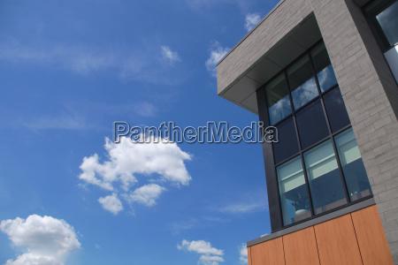 modern office building corner business architecture