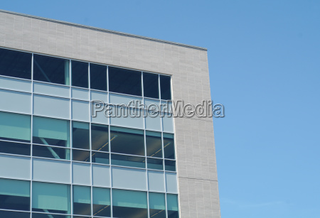 business building corporate office corner white