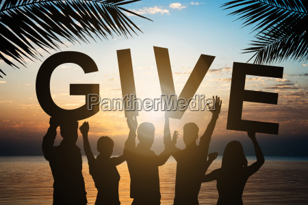 business, people, holding, give, text, by - 22813734