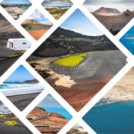 collage of lanzarote
