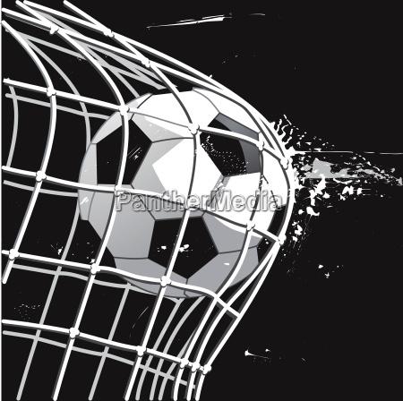 celem, piłka, nożna, celem, ilustracji, - 22830425