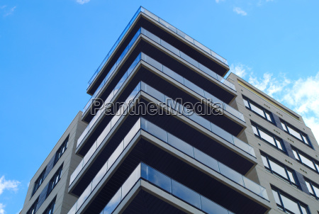 apartment residential building corner modern architecture