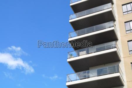modern architecture residential building condominium skyscraper