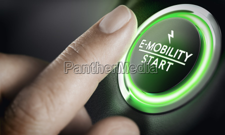 e mobilnosc zielony przycisk start samochodu