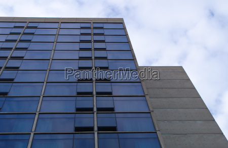 concrete glass building office tower business