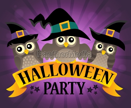 halloween party sign topic image 9