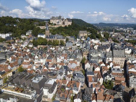 old town of marburg germany
