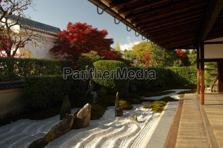 ogrod zen w swiatyni zuiho inkiotojaponiaazja