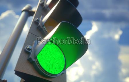 sygnalizacja swietlna zielony