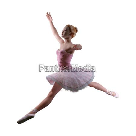 balerina renderowania 3d na bialym tle