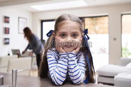 portrait of smiling little girl at
