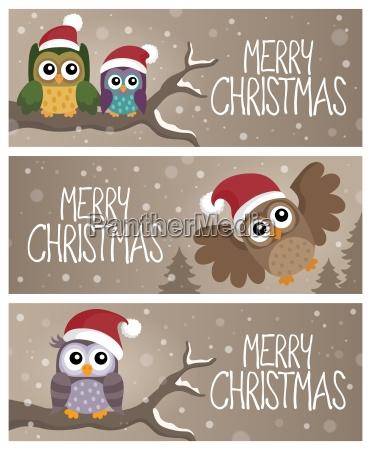 sztuka kompozycja zima zimowy zwierze ptak