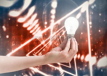 kompozytowy wizerunek zarzonego swietlowki sparkle electric