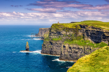 klify irlandia morze natura ocean podroz