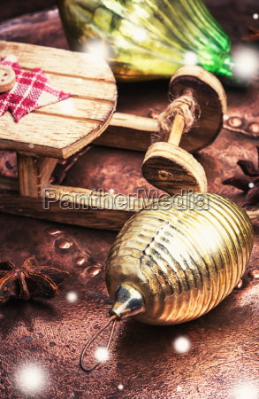 closeup of christmas toy