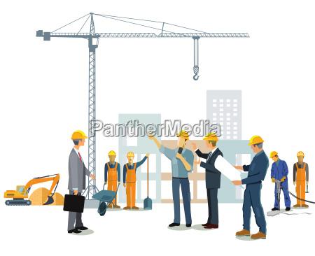 planowanie zatrudniony urzednikow rzemieslnik budowanie domy