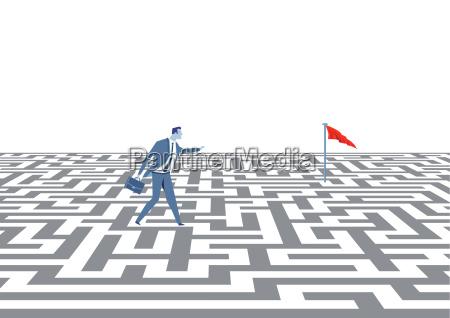 strategii biznesowej koncepcji ilustracji