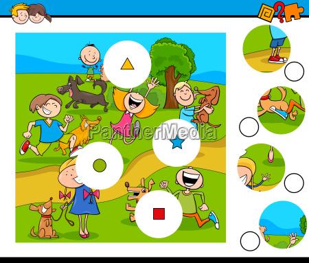 puzzle kawalki meczu z dziecmi i