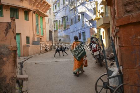 ulica miejska w radzastanie indie widok
