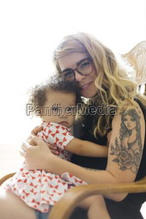 portret, matki, i, córki, (12-17), siedzący - 23622722