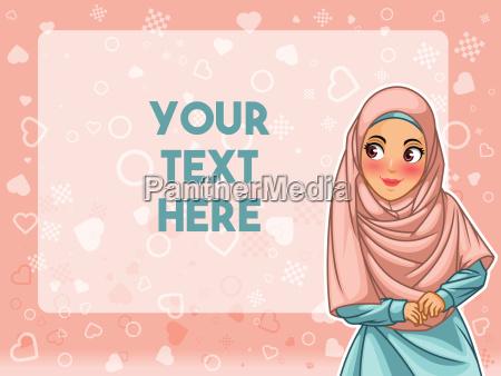 muzulmanska kobieta jest ubranym hijab przeslony
