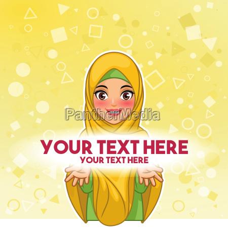 muzulmanska kobieta jest ubranym hijab przeslona