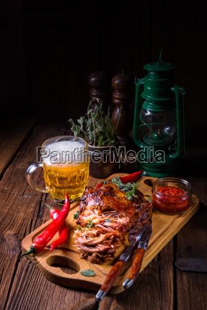 smaczne grill wyciagnal wieprzowiny