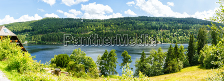 germany overview of lake titisee in