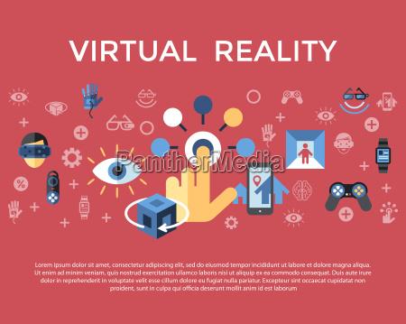 cyfrowy wektor wirtualnej rzeczywistosci rozszerzonej koncepcja