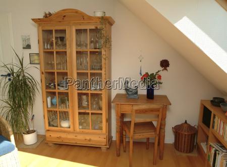 salon, z, meblami, z, naturalnego, drewna - 23717752