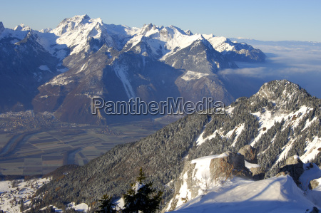 view over the rhone valley to
