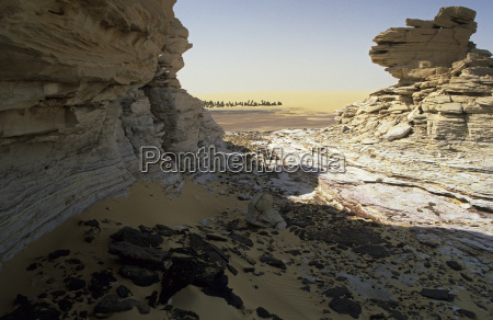 rock formations at the oasis bzemah