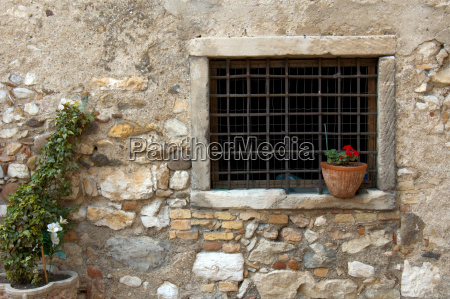 window of an old farmhouse tuscany