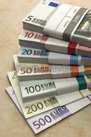 money bundle euro bills