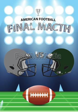 futbol amerykanski mecz finalowy plakat koncepcja