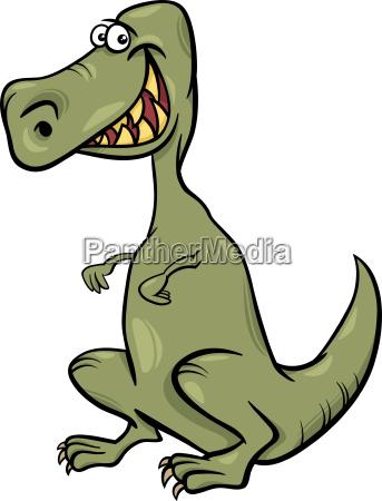 ilustracja kreskowka o charakterze dinozaura