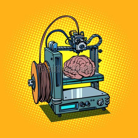 mozg biotechnologia medycyna drukowanie ludzkie narzady