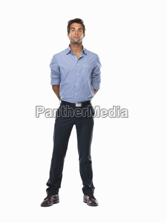 studio shot of young business man