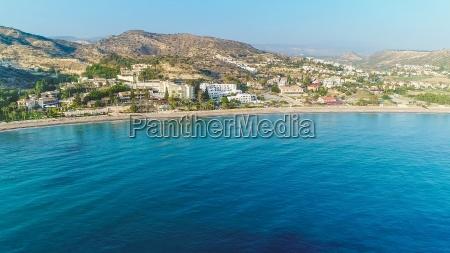 aerial pissouri bay limassol cypr