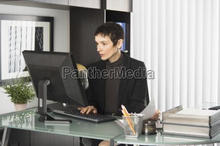 biuro biurko skupienie sklepy handel biznes