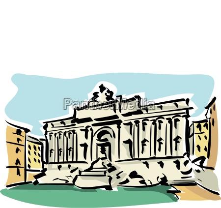 rzym roma trevi fountain rome italy