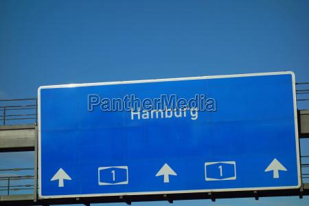 znak autostrady a1 hamburg