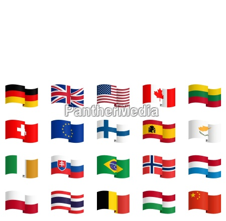 zbior flag panstwowych 1