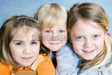 three children 6 4 and 11