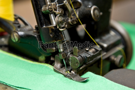 detail of an old industrial nahmaschine