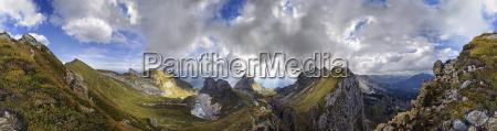 360 panoramiczny widok z seekarlscharte z