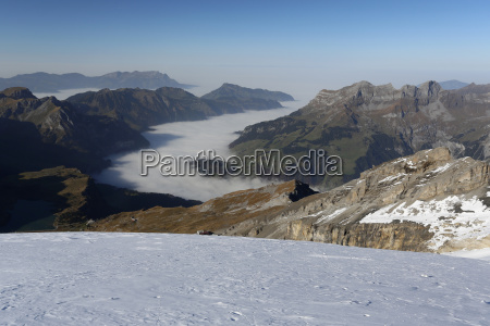view of the fog from titlis