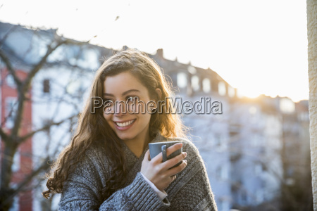 portrait of laughing teenage girl with